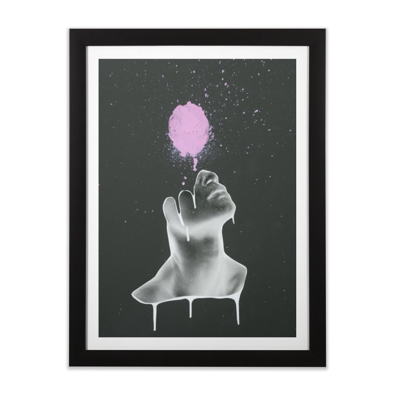 Splatter Brained Home Framed Fine Art Print by notes and pictures's Artist Shop