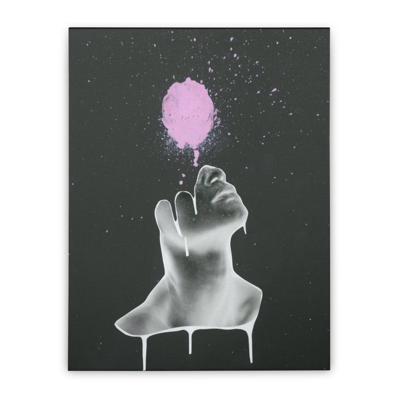 Splatter Brained Home Stretched Canvas by notes and pictures's Artist Shop