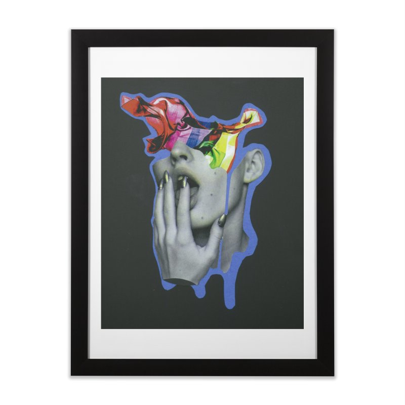 A colorful mind Home Framed Fine Art Print by notes and pictures's Artist Shop