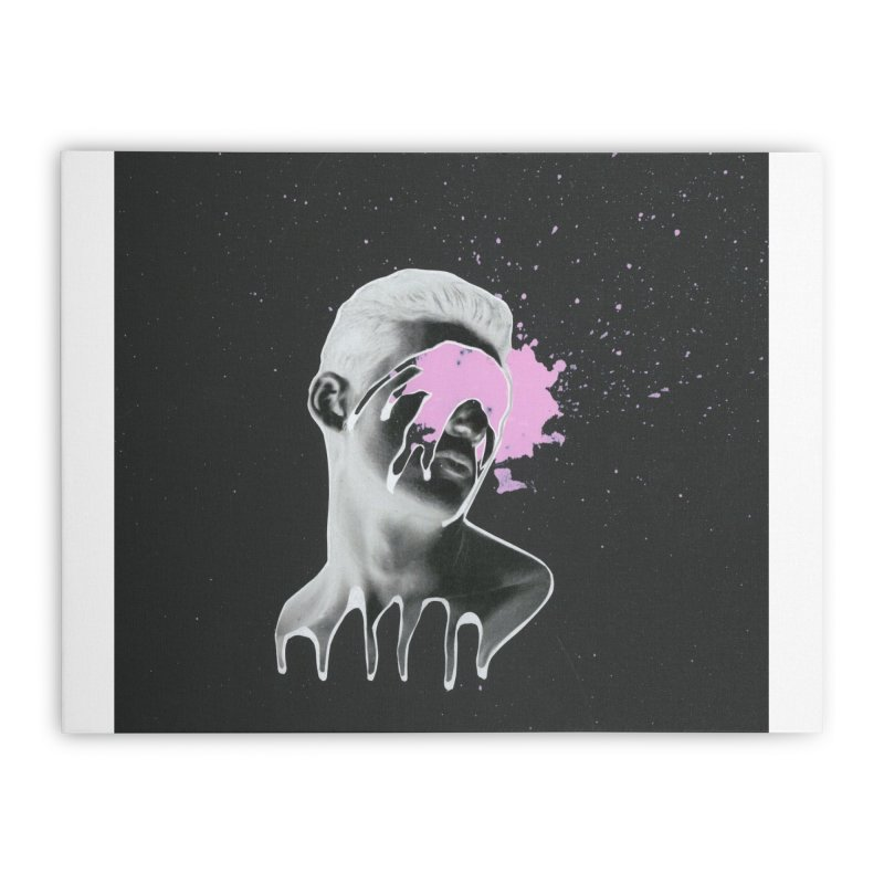 Splatter Brained 3 Home Stretched Canvas by notes and pictures's Artist Shop