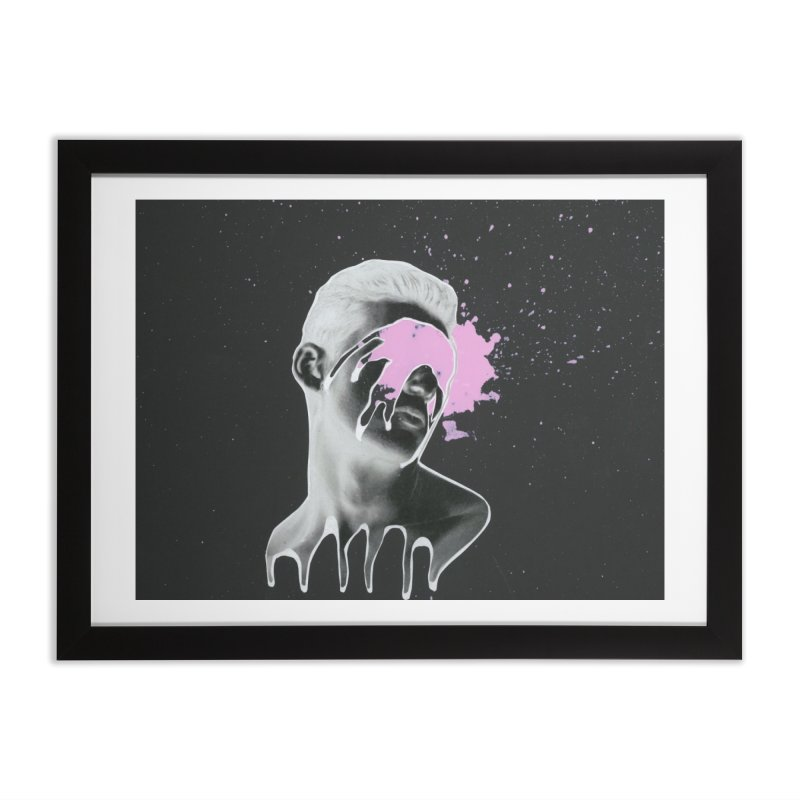 Splatter Brained 3 Home Framed Fine Art Print by notes and pictures's Artist Shop