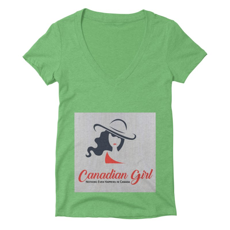 Canadian Girl Women's V-Neck by The Nothing Canada Souvenir Shop