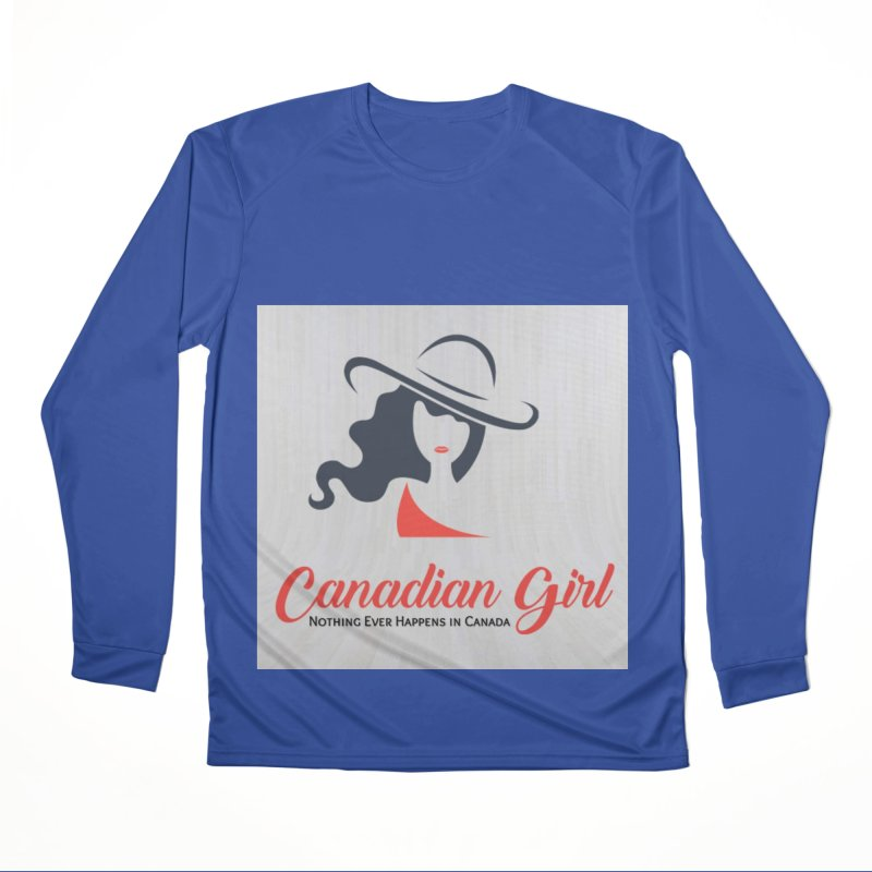 Canadian Girl Women's Performance Unisex Longsleeve T-Shirt by The Nothing Canada Souvenir Shop