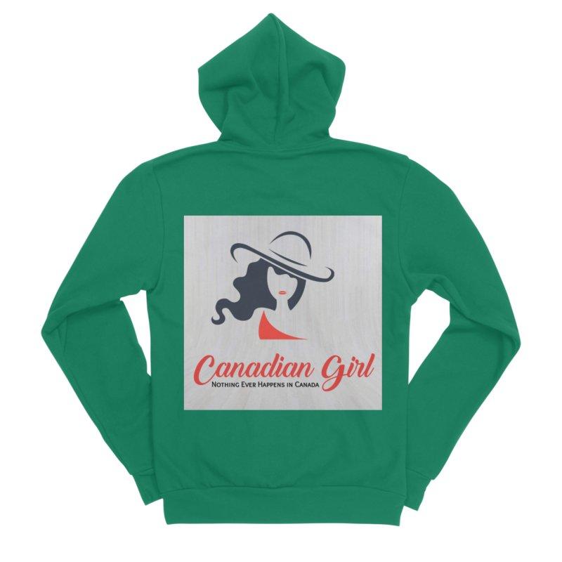 Canadian Girl Men's Sponge Fleece Zip-Up Hoody by The Nothing Canada Souvenir Shop