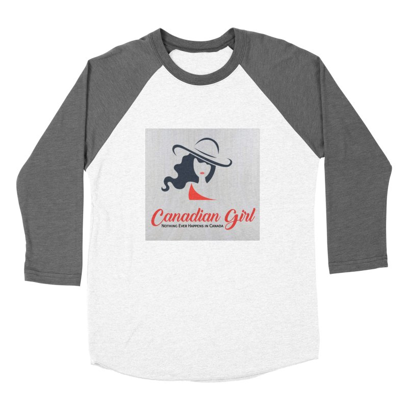 Canadian Girl Men's Baseball Triblend Longsleeve T-Shirt by The Nothing Canada Souvenir Shop