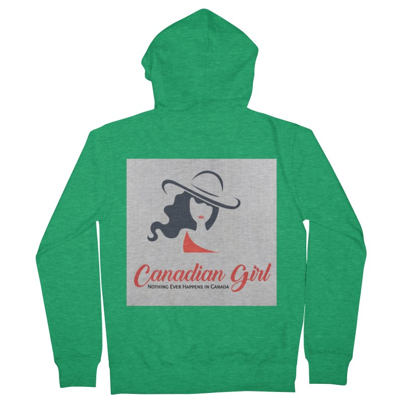 Canadian Girl Women's Zip-Up Hoody by The Nothing Canada Souvenir Shop