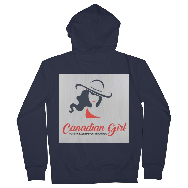 Canadian Girl Women's French Terry Zip-Up Hoody by The Nothing Canada Souvenir Shop
