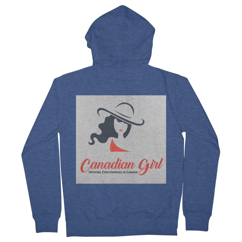 Canadian Girl Men's French Terry Zip-Up Hoody by The Nothing Canada Souvenir Shop