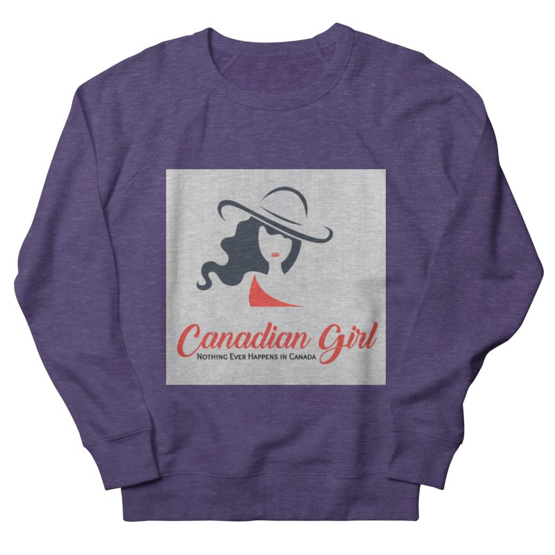 Canadian Girl Men's French Terry Sweatshirt by The Nothing Canada Souvenir Shop