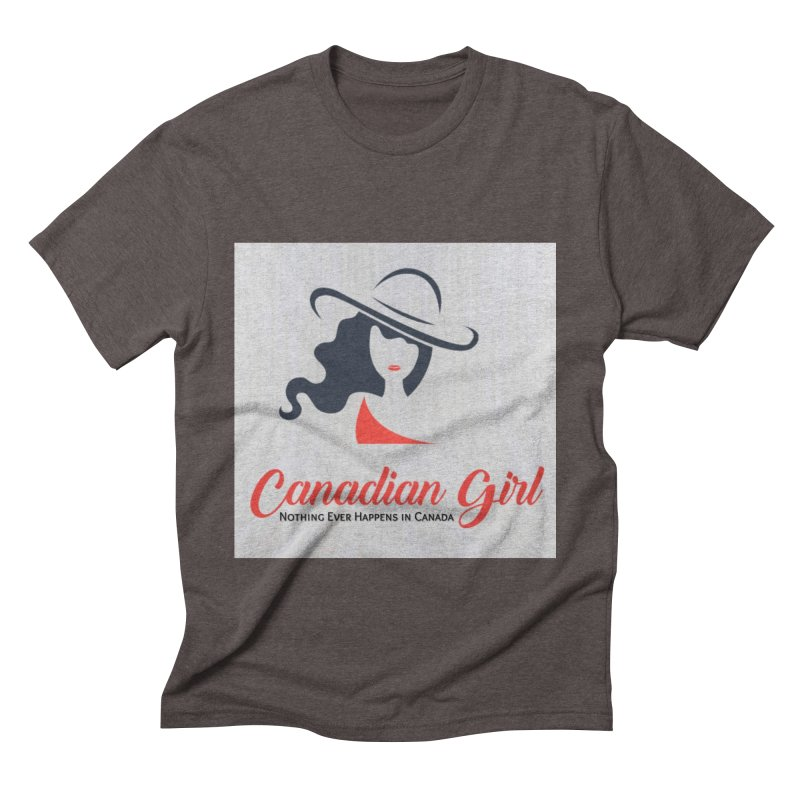 Canadian Girl Men's Triblend T-Shirt by The Nothing Canada Souvenir Shop