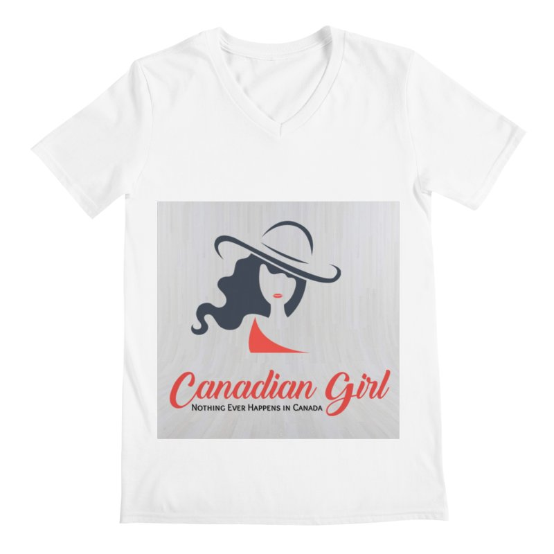 Canadian Girl Men's V-Neck by The Nothing Canada Souvenir Shop