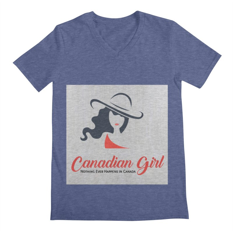 Canadian Girl Men's Regular V-Neck by The Nothing Canada Souvenir Shop
