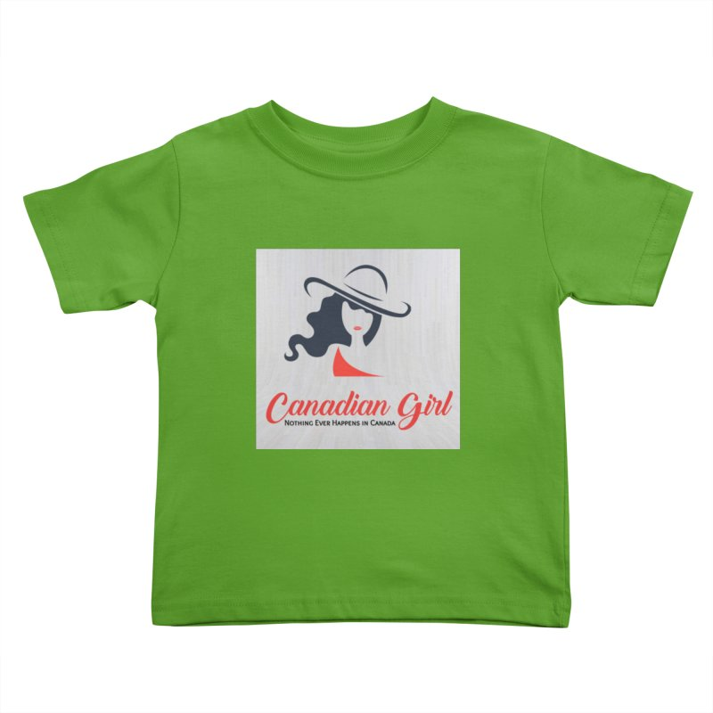 Canadian Girl Kids Toddler T-Shirt by The Nothing Canada Souvenir Shop