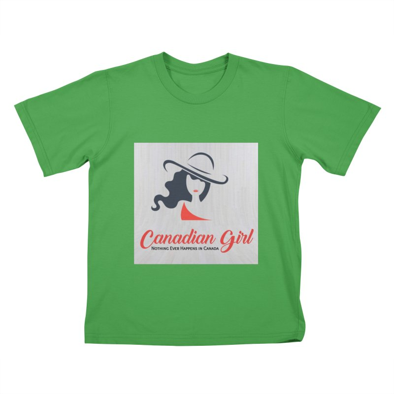 Canadian Girl Kids T-Shirt by The Nothing Canada Souvenir Shop