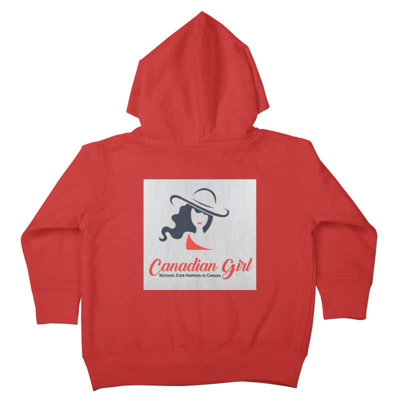 Canadian Girl Kids Toddler Zip-Up Hoody by The Nothing Canada Souvenir Shop