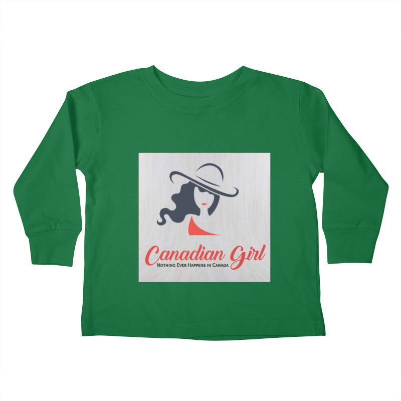 Canadian Girl Kids Toddler Longsleeve T-Shirt by The Nothing Canada Souvenir Shop
