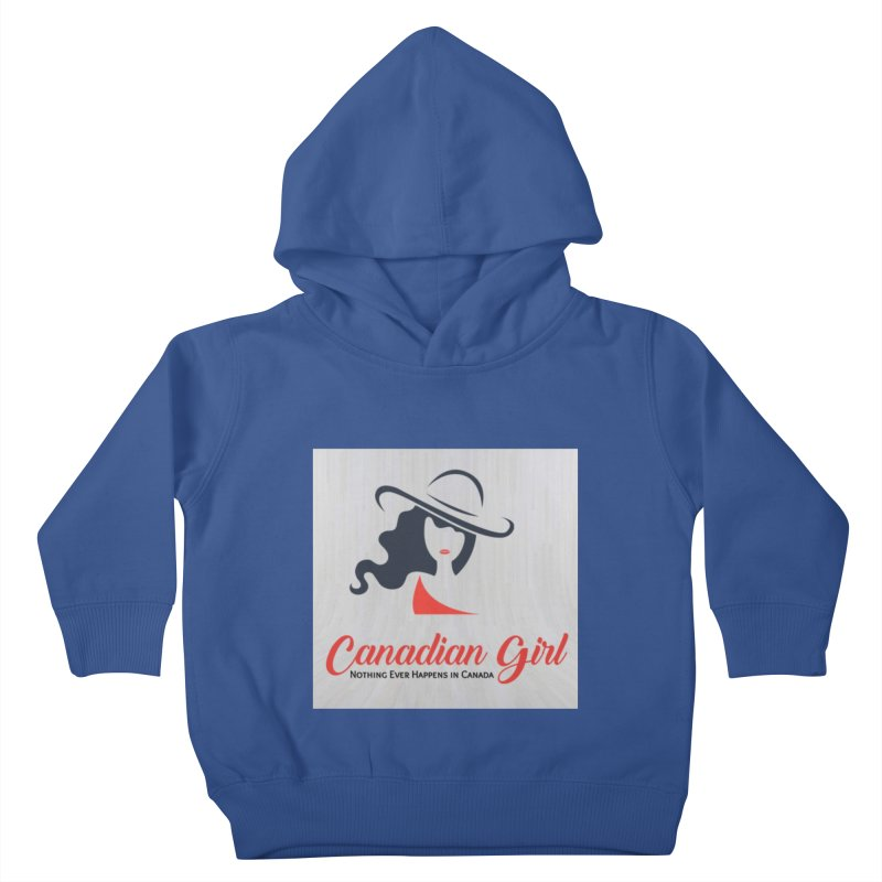 Canadian Girl Kids Toddler Pullover Hoody by The Nothing Canada Souvenir Shop