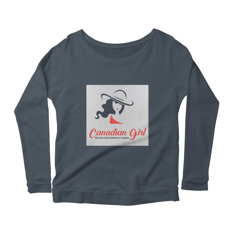 Canadian Girl Women's Scoop Neck Longsleeve T-Shirt by The Nothing Canada Souvenir Shop