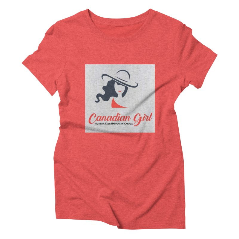Canadian Girl Women's Triblend T-Shirt by The Nothing Canada Souvenir Shop