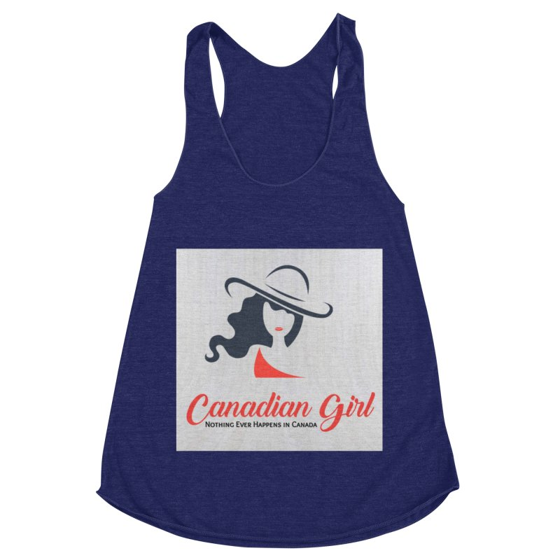 Canadian Girl Women's Racerback Triblend Tank by The Nothing Canada Souvenir Shop