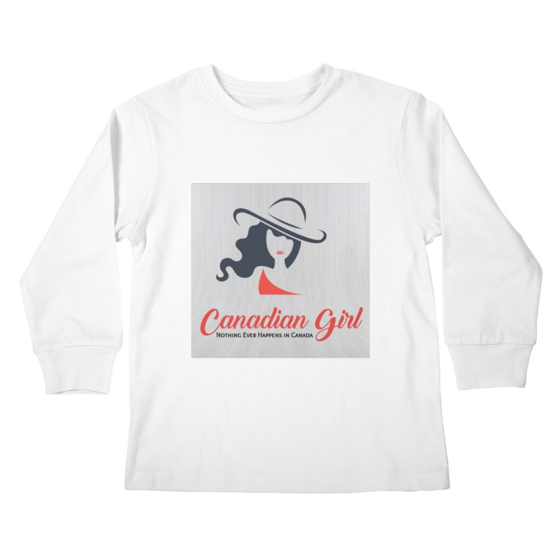 Canadian Girl Kids Longsleeve T-Shirt by The Nothing Canada Souvenir Shop