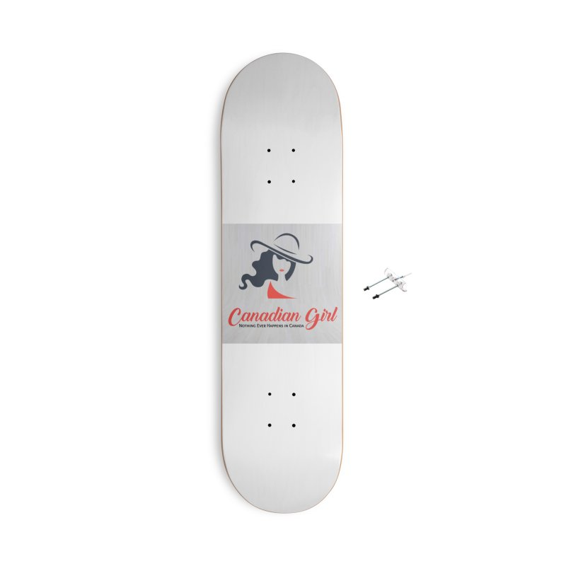Canadian Girl Accessories With Hanging Hardware Skateboard by The Nothing Canada Souvenir Shop