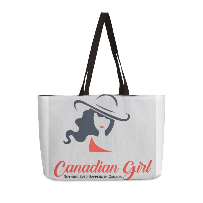 Canadian Girl Accessories Weekender Bag Bag by The Nothing Canada Souvenir Shop