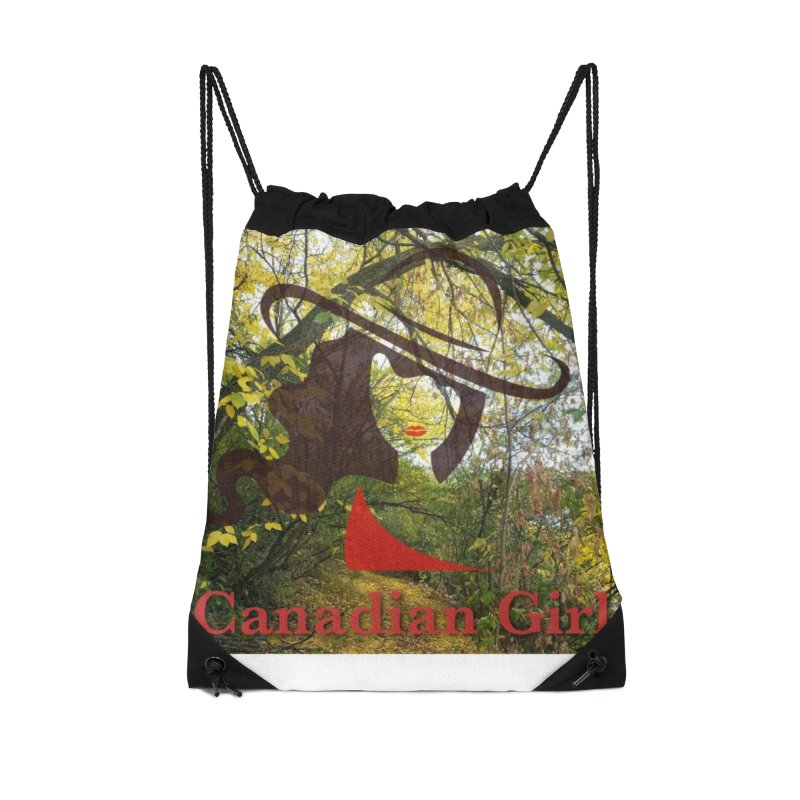 Canadian Girl -  Fall 2019 Accessories Drawstring Bag Bag by The Nothing Canada Souvenir Shop
