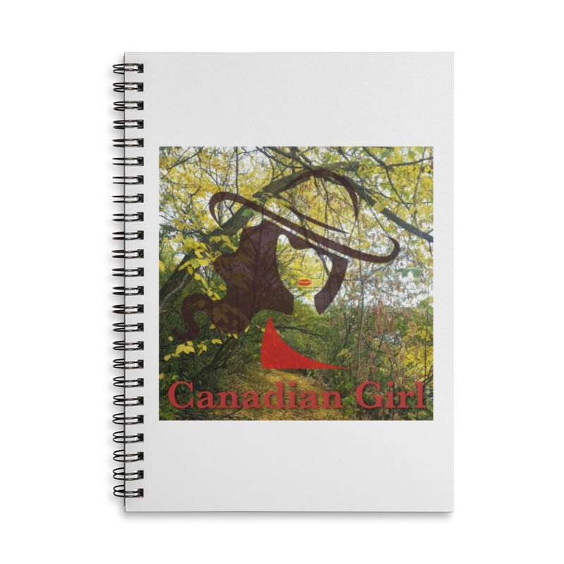 Canadian Girl -  Fall 2019 Accessories Lined Spiral Notebook by The Nothing Canada Souvenir Shop