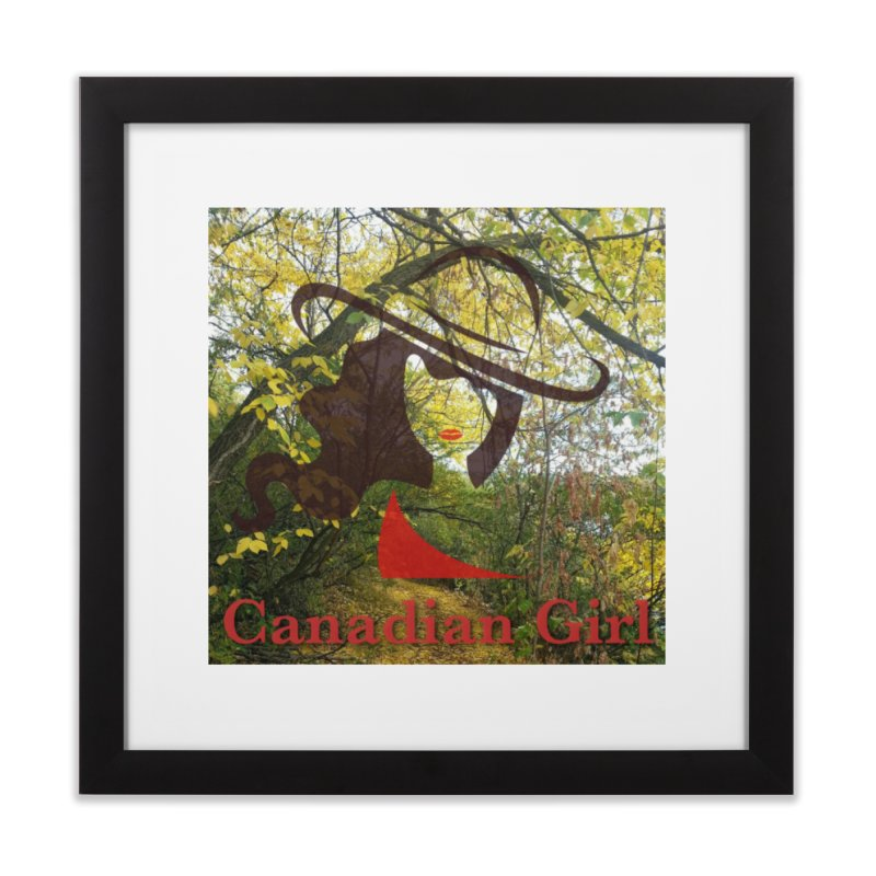 Canadian Girl -  Fall 2019 Home Framed Fine Art Print by The Nothing Canada Souvenir Shop