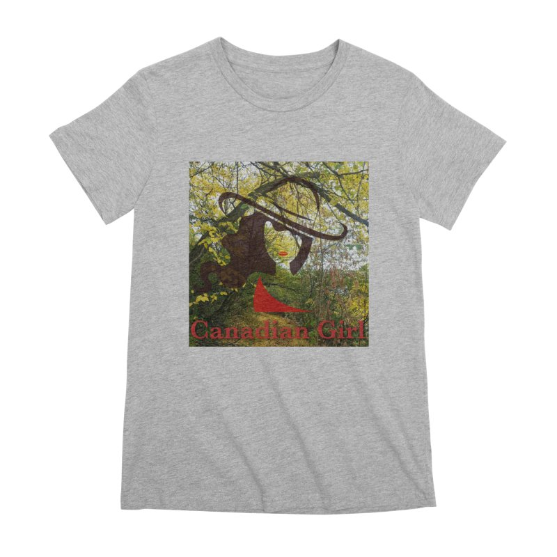 Canadian Girl -  Fall 2019 Women's Premium T-Shirt by The Nothing Canada Souvenir Shop