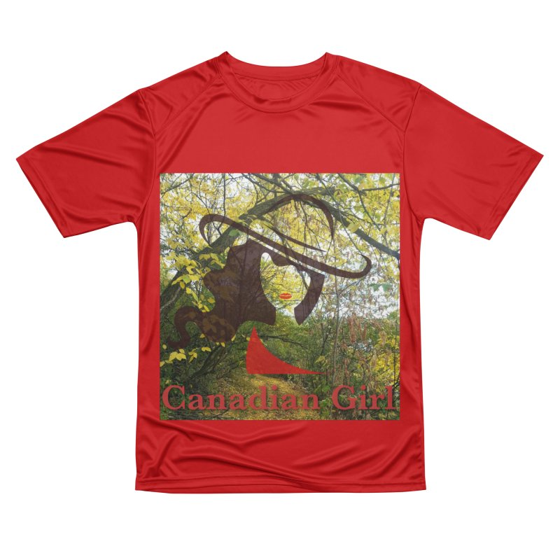 Canadian Girl -  Fall 2019 Women's Performance Unisex T-Shirt by The Nothing Canada Souvenir Shop