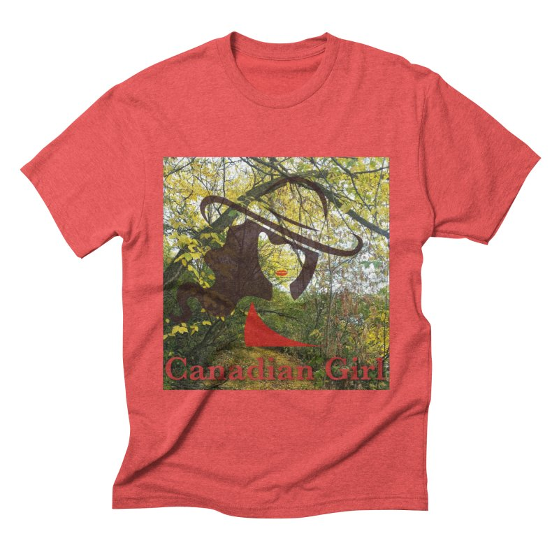 Canadian Girl -  Fall 2019 Men's Triblend T-Shirt by The Nothing Canada Souvenir Shop
