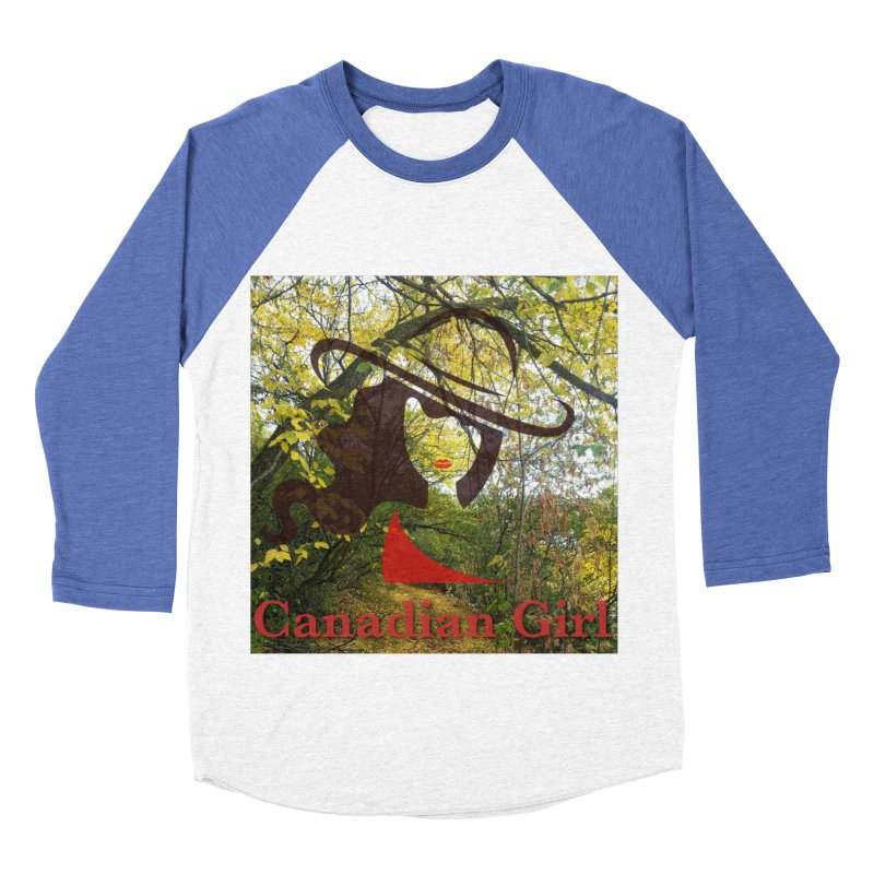 Canadian Girl -  Fall 2019 Women's Baseball Triblend Longsleeve T-Shirt by The Nothing Canada Souvenir Shop