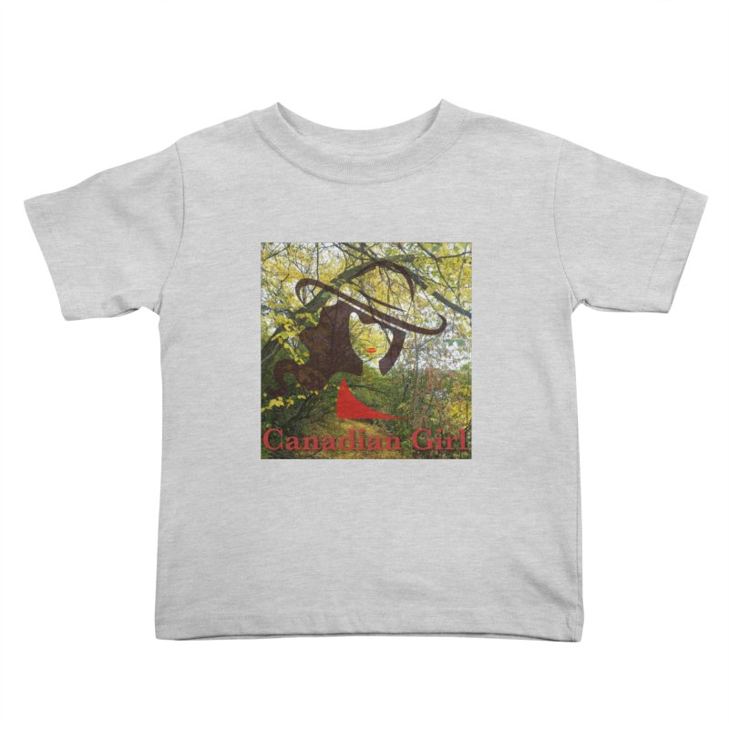 Canadian Girl -  Fall 2019 Kids Toddler T-Shirt by The Nothing Canada Souvenir Shop
