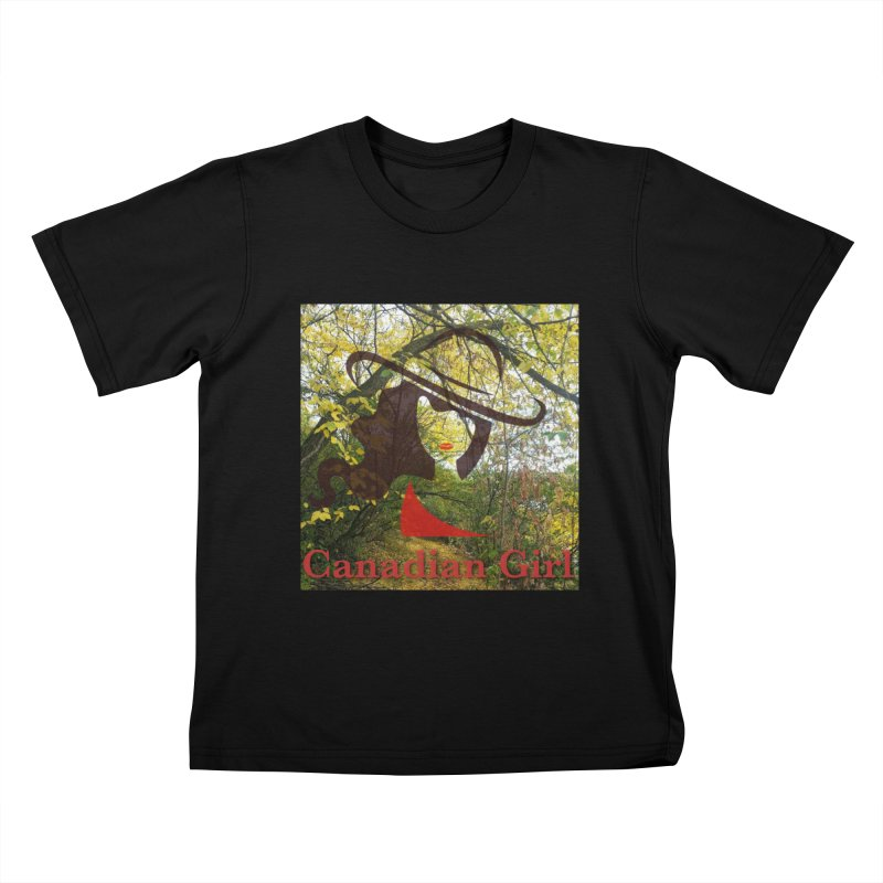 Canadian Girl -  Fall 2019 Kids T-Shirt by The Nothing Canada Souvenir Shop