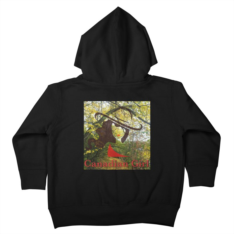 Canadian Girl -  Fall 2019 Kids Toddler Zip-Up Hoody by The Nothing Canada Souvenir Shop