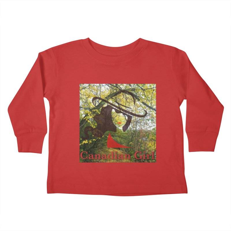 Canadian Girl -  Fall 2019 Kids Toddler Longsleeve T-Shirt by The Nothing Canada Souvenir Shop