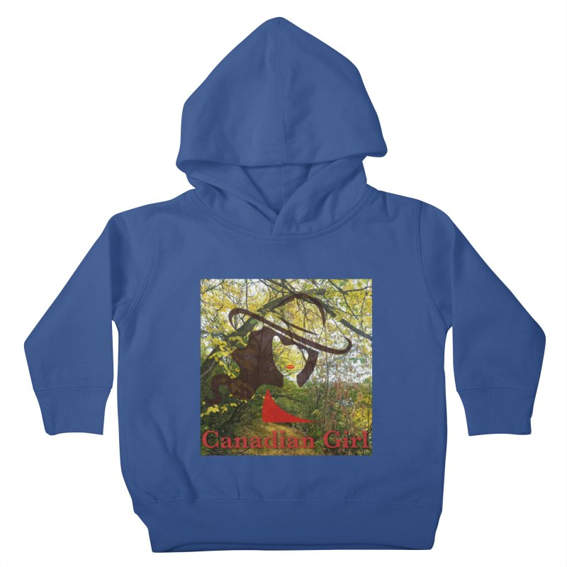 Canadian Girl -  Fall 2019 Kids Toddler Pullover Hoody by The Nothing Canada Souvenir Shop