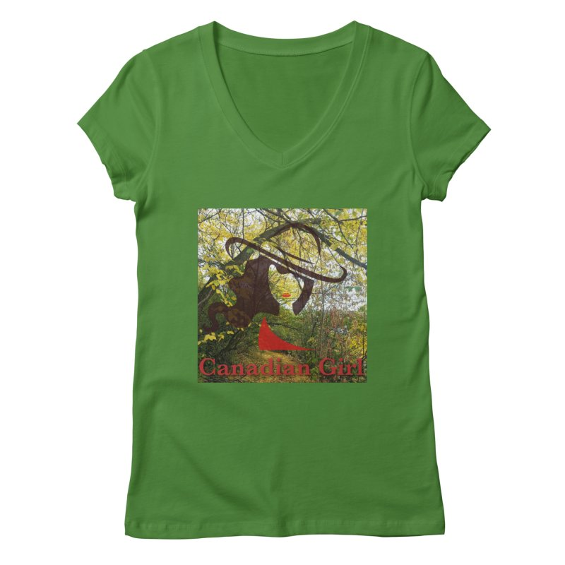 Canadian Girl -  Fall 2019 Women's Regular V-Neck by The Nothing Canada Souvenir Shop