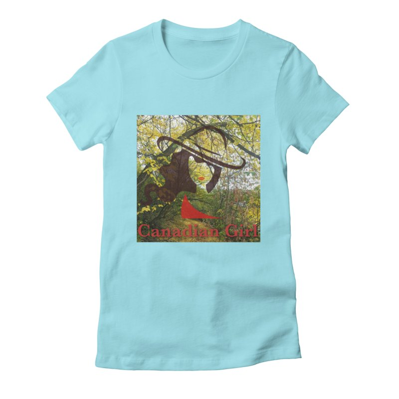Canadian Girl -  Fall 2019 Women's Fitted T-Shirt by The Nothing Canada Souvenir Shop