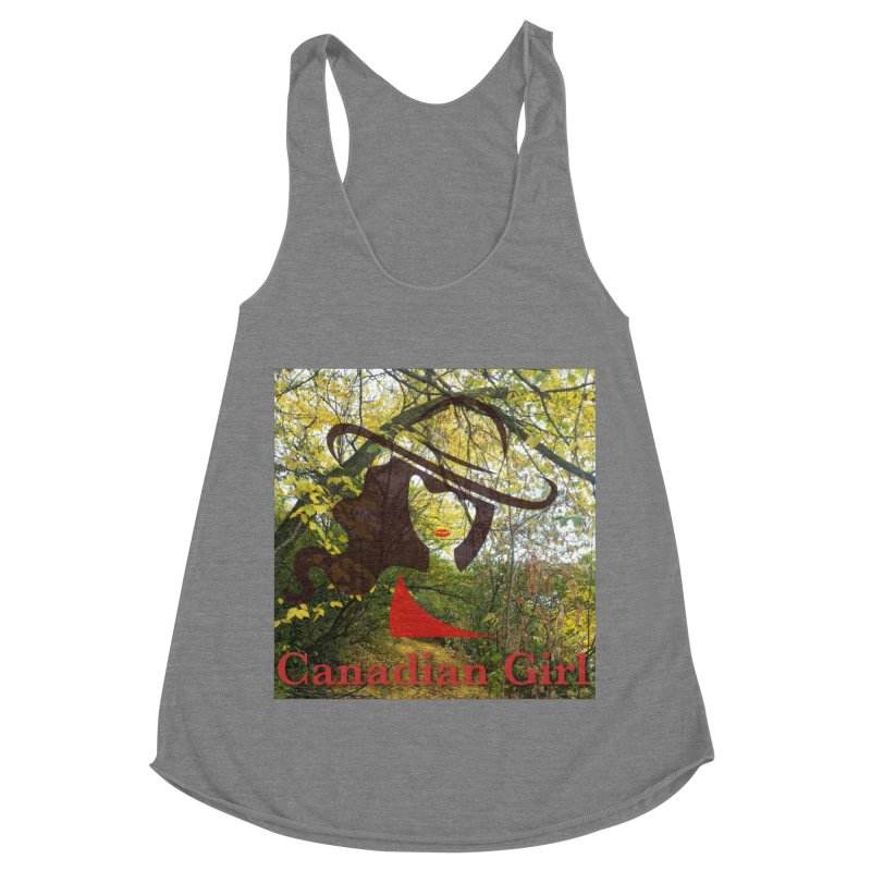 Canadian Girl -  Fall 2019 Women's Racerback Triblend Tank by The Nothing Canada Souvenir Shop