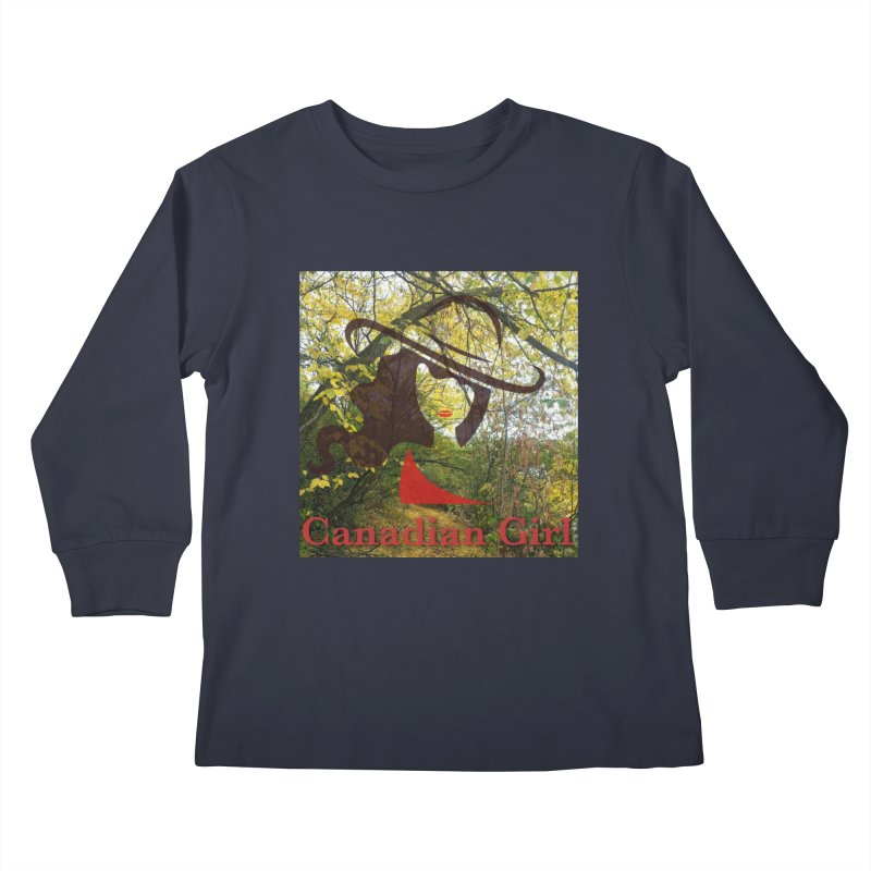 Canadian Girl -  Fall 2019 Kids Longsleeve T-Shirt by The Nothing Canada Souvenir Shop