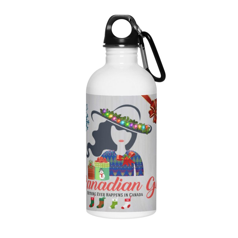 Holiday Canadian Girl Accessories Water Bottle by The Nothing Canada Souvenir Shop