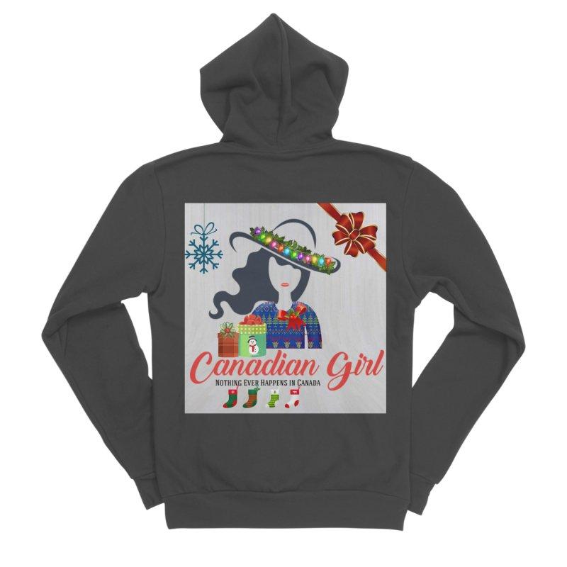 Holiday Canadian Girl Men's Sponge Fleece Zip-Up Hoody by The Nothing Canada Souvenir Shop