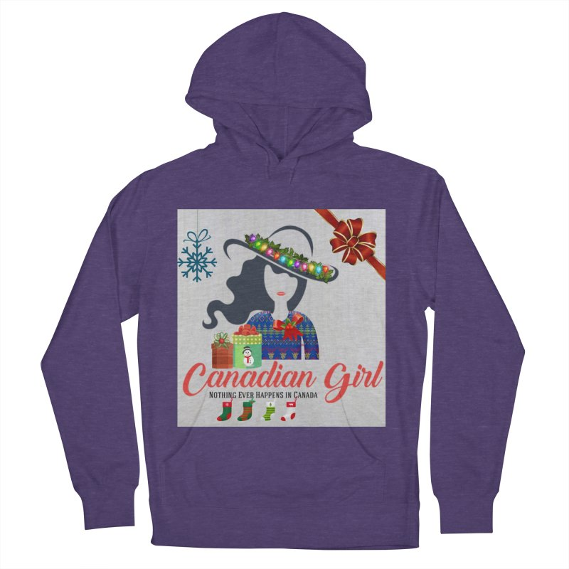 Holiday Canadian Girl Women's French Terry Pullover Hoody by The Nothing Canada Souvenir Shop