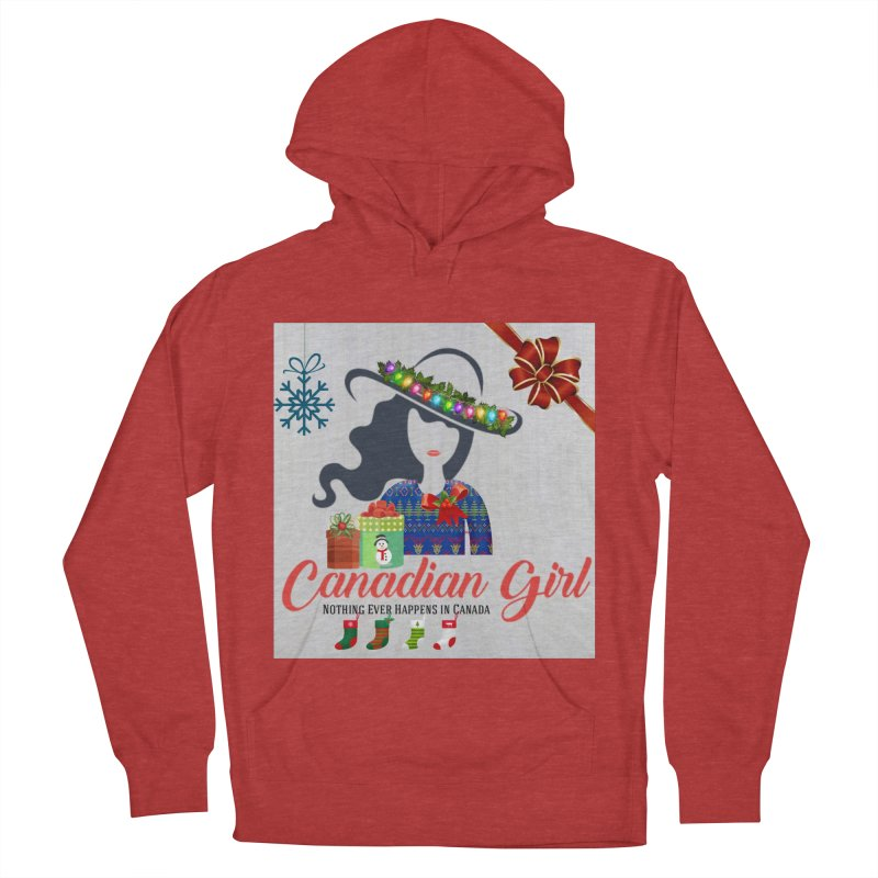 Holiday Canadian Girl Men's French Terry Pullover Hoody by The Nothing Canada Souvenir Shop