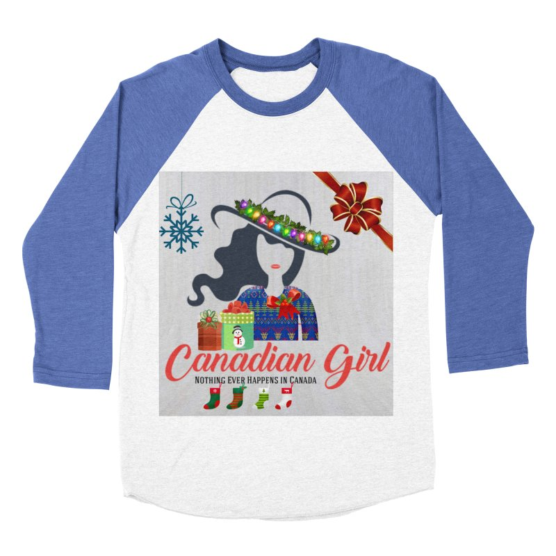 Holiday Canadian Girl Men's Baseball Triblend Longsleeve T-Shirt by The Nothing Canada Souvenir Shop
