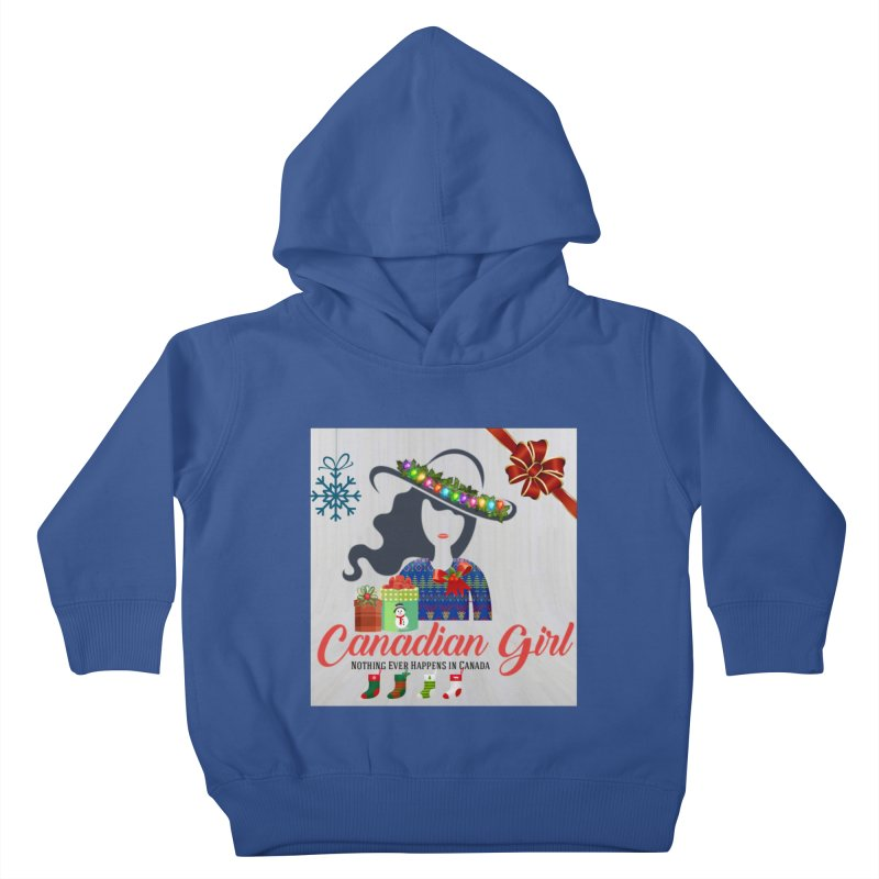 Holiday Canadian Girl Kids Toddler Pullover Hoody by The Nothing Canada Souvenir Shop