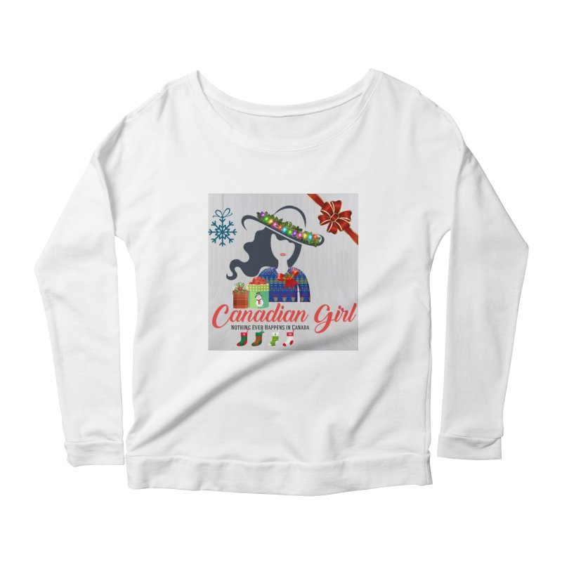 Holiday Canadian Girl Women's Scoop Neck Longsleeve T-Shirt by The Nothing Canada Souvenir Shop